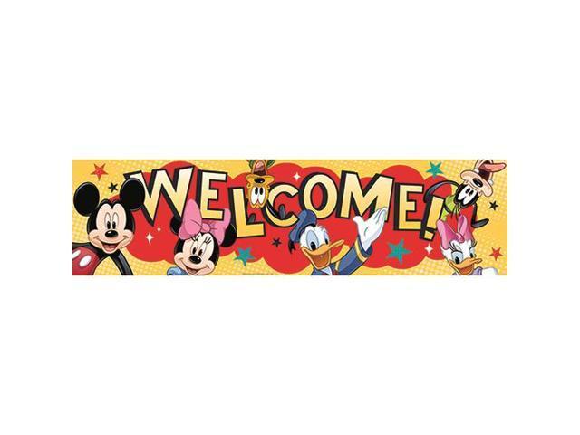 Eureka EU-849002 Mickey Welcome Classroom Banner