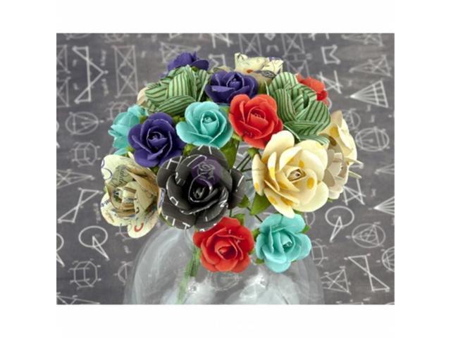 Prima Marketing SMFLR-70736 School Memories Flowers-Mulberry Paper with Stem 1.25 in. 20-Pkg