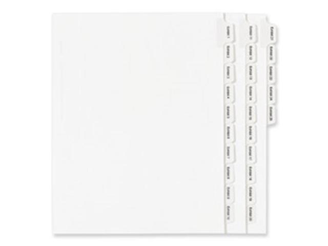 Avery AVE82136 Index Divider, Exhibit 4, Side Tab, 25-PK, White