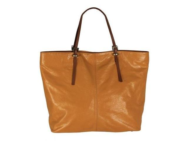 Latico Leather 7958GDTN Nadia Mimi Large Tote Bag - Gold & Tan