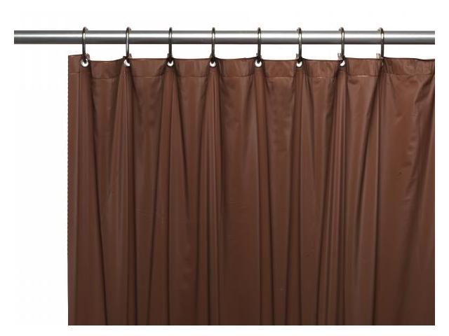 Carnation Home Fashions USC 3 13 3 Gauge Vinyl Shower Curtain Liner Brown