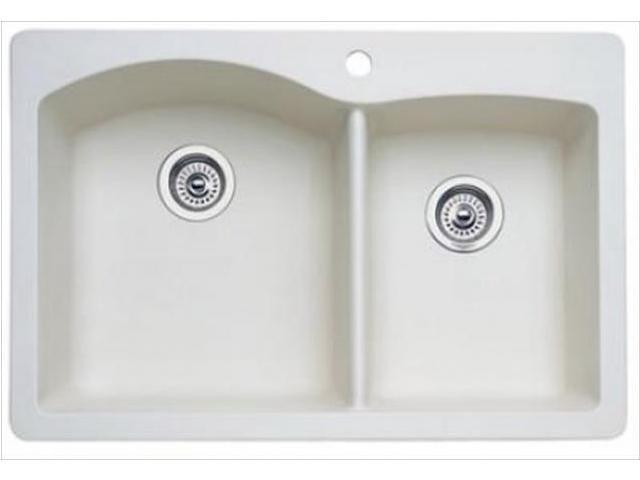 Blanco Usa Sinks : Blanco America 440217 Diamond Dual-Mount Composite 1 Hole 1.75 Double ...