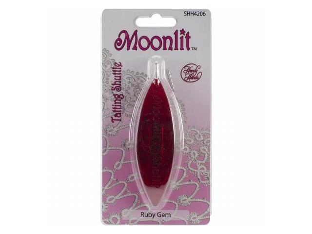 Handy Hands SHH42-6 Moonlit Tatting Shuttle with Hook-Ruby Red
