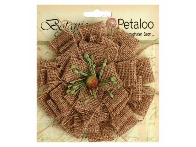 Petaloo P1202-000 Textured Elements Burlap Blossom Large-Natural