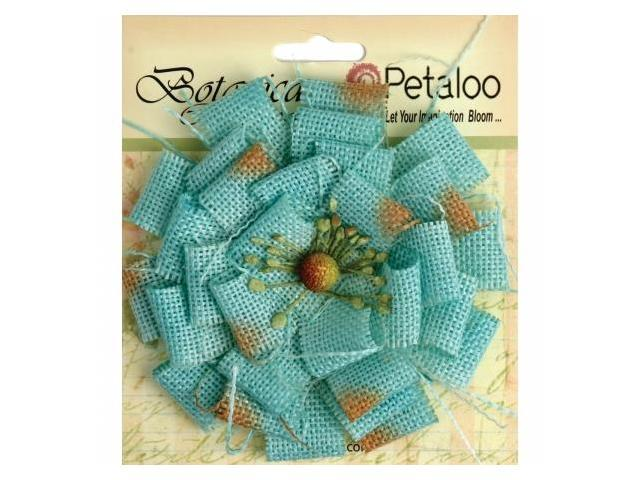 Petaloo P1202-205 Textured Elements Burlap Blossom Large-Teal