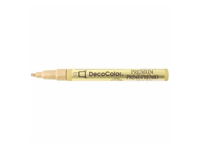 Uchida 250-C-GLD DecoColor Premium Oil Based Paint Marker Carded-2mm Leafing Tip Gold