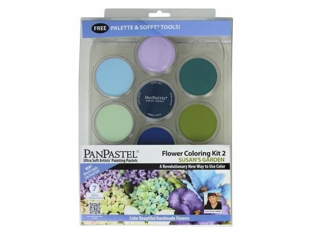 Colorfin PP30116 PanPastel Ultra Soft Artist Pastel Set 9ml 7-Pkg-Flower Coloring Kit No.2-Susans Garden