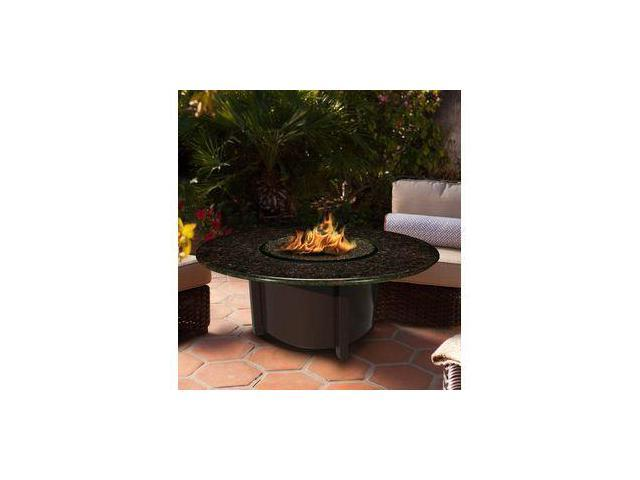 California Outdoor Concepts 5010-BR-PG10-BM-42 Carmel Chat Height Fire Pit-Brown-Black Reflective Glass-Black Mahogany - 42 in.