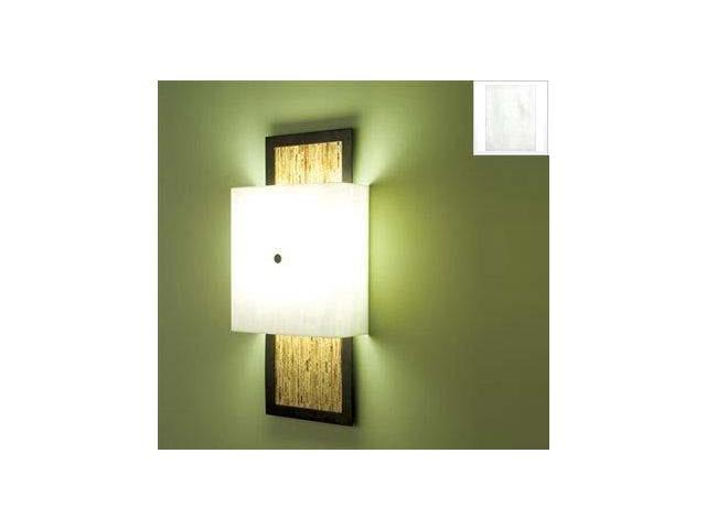 WPT Design WIN - BZ - WH - SG 2 Light Fluorescent  Wall Sconce White Diffuser - Bronze-Sorghum Windows