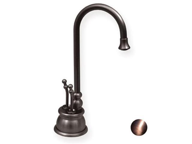 Whitehaus Collection Alfi Trade WHFH-HC4550-ACO 4.12 in. Forever Hot instant hot-cold water dispenser with gooseneck spout and self closing hot water handle- Antique Copper