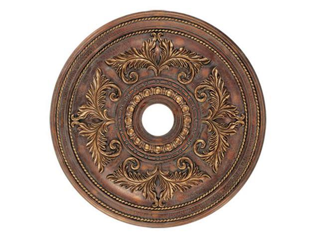 Livex 8210-30 Ceiling Medallion- Crackled Greek Bronze