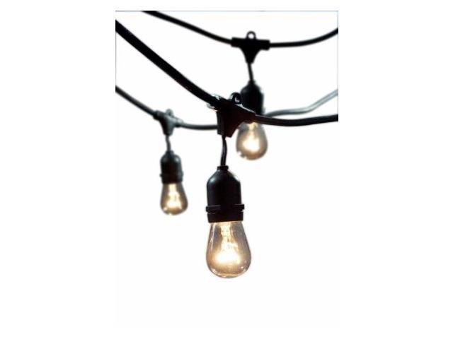 Bulbrite 810002 STRING15-E26-S14KT Outdoor String Light with Incandescent 11S14 Bulbs, 48-Feet ...