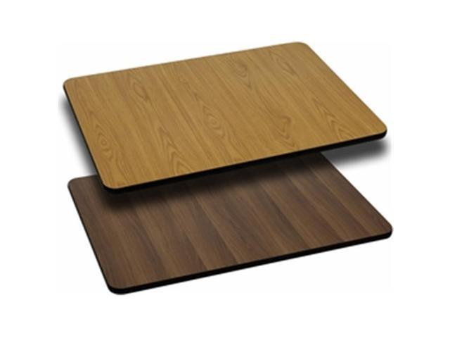 Flash Furniture XU-WNT-2442-GG 24 in. x 42 in. Rectangular Table Top with Natural or Walnut Reversible Laminate Top