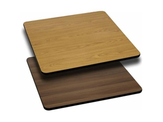 Flash Furniture XU-WNT-3636-GG 36 in. Square Table Top with Natural or Walnut Reversible Laminate Top