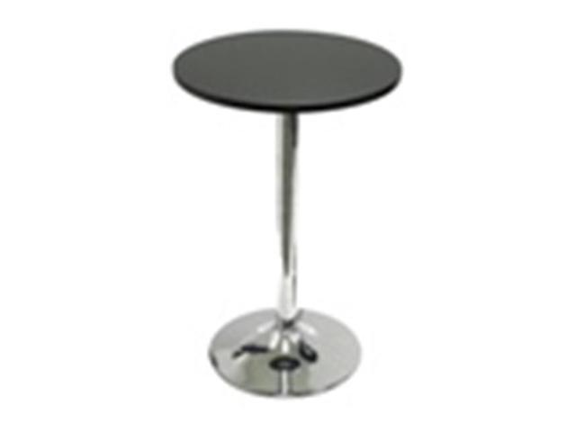Winsome 93719 20 Inch Round Bistro / Tea Table with Metal Leg - Black