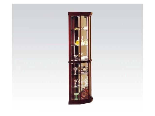 Acme Furniture 02347 Martha Cherry Corner Curio Cabinet In