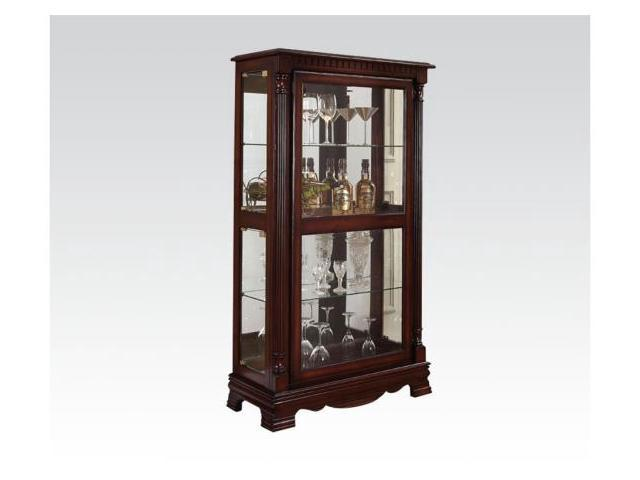 dining room curio cabinets | Acme Furniture 90066 Dining Room Curio Cabinet With 4sides ...
