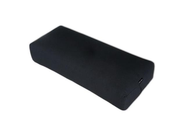 Wai Lana Productions 1021 Rectangular Yoga Bolster - Black