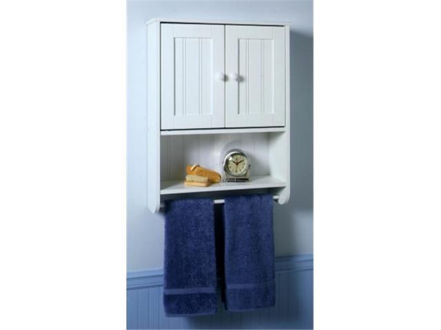 Zenith products 9114w white country cottage wall cabinet for Zenith bathroom cabinets