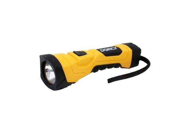 Dorcy 41-4750 180 Lumen LED flashlight 4AA Hardware - Yellow/Black
