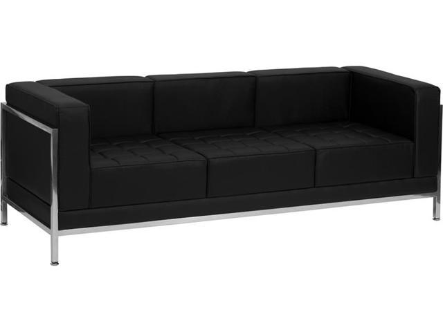 Imagination Series Black Leather Sofa by Flash Furniture