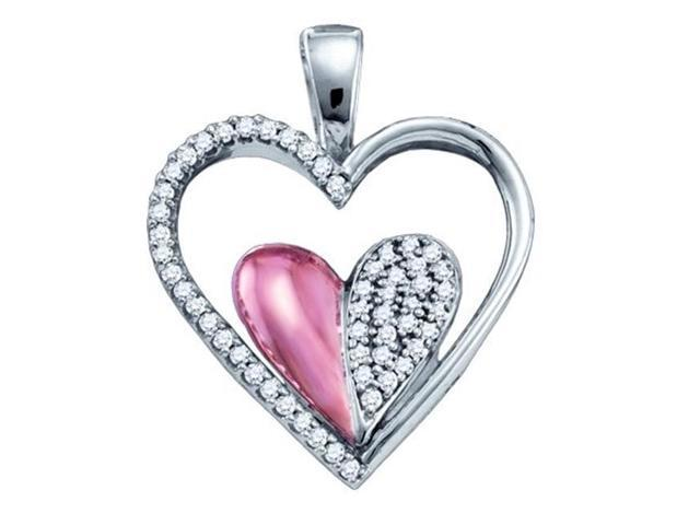 Gold and Diamonds PH2922-W 0.20CT-DIA MICRO-PAVE HEART PENDANT- Size 7