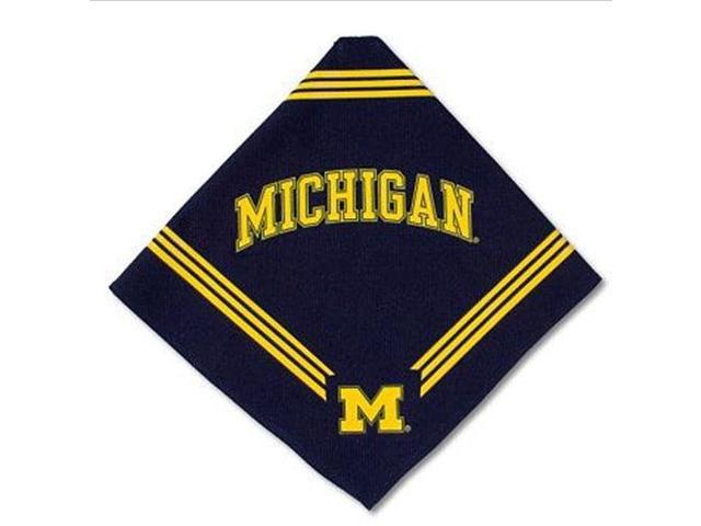 DoggieNation 870320008235 Michigan Wolverines Dog Bandana - Medium