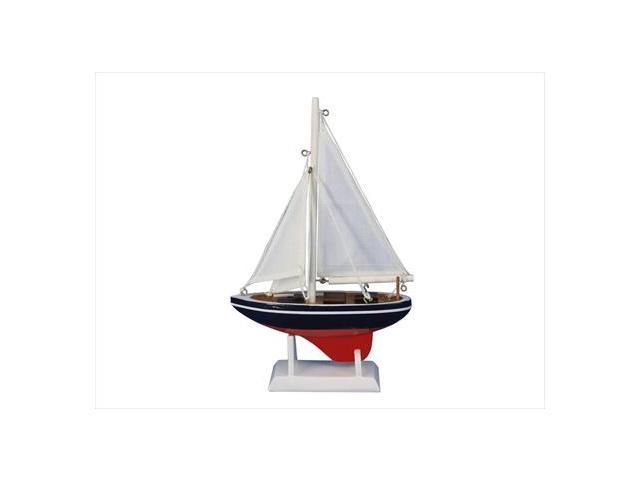 Handcrafted Model Ships Sailboat9-101 American Sailor 9 in. Model Ship Decorative Accent