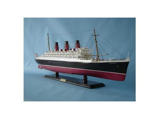Handcrafted Model Ships QM40 Queen Mary Limited 40 in. Decorative Cruise Ship