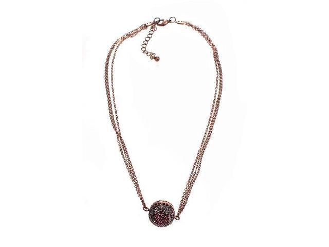 Alexa Starr 4555-N-C Burnished Rhinestone Fireball Fashion Necklace, Purple