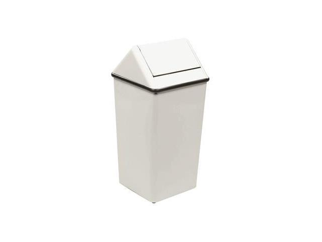 White White Square Swing top Trashcan
