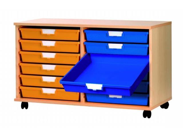 Portable Wood Storage Cabinet : Extra wide home office portable reversible tray