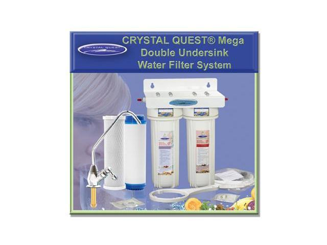 Crystal Quest CQE-US-00308 Undersink Replaceable Double Multi Ultimate Water Filter System