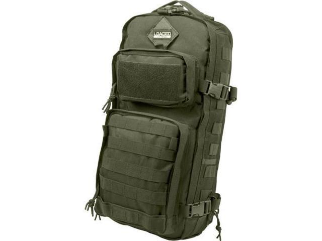 Loaded Gear Optics BI12326 GX-300 Tactical Sling Backpack - Green