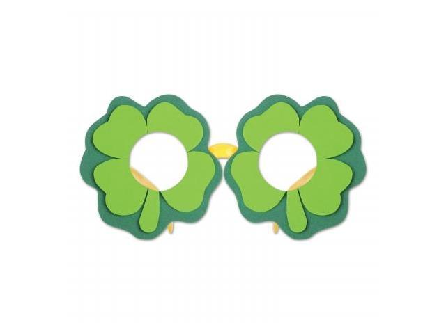 Beistle Company 30362 Shamrock Glasses - Pack of 12