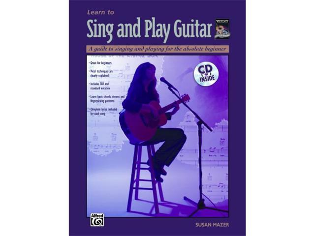 alfred 00 18433 learn to sing and play guitar music book. Black Bedroom Furniture Sets. Home Design Ideas
