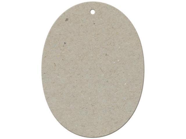 Die-Cut Grey Chipboard Embellishments-Oval Photo Frames 1.5