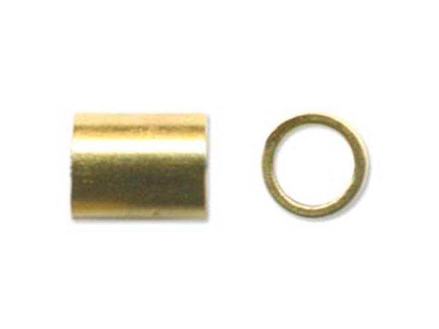 Crimp Tubes Size 4 1.5g-Gold-Plated