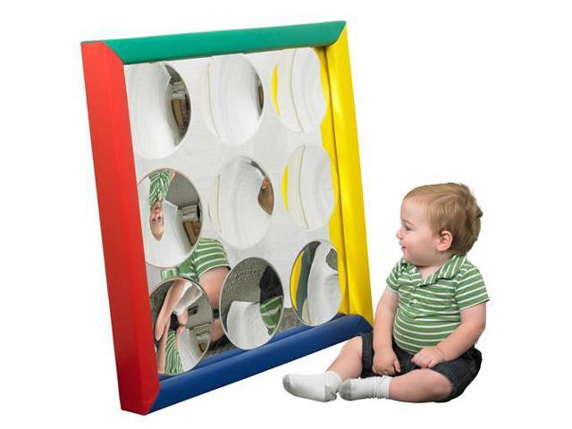 Early Childhood Resources ELR-12667 Softzone Padded Mirror - Bubble Innie
