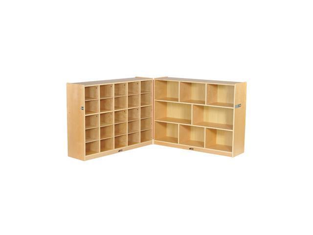 Early Childhood Resources ELR-17218 Fold and Lock 25 Tray Cabinet & Storage 36 in.