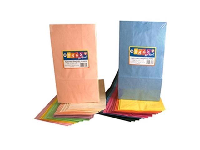 Hygloss Products HYG66101 Colorful Paper Bags White 100 per Pack