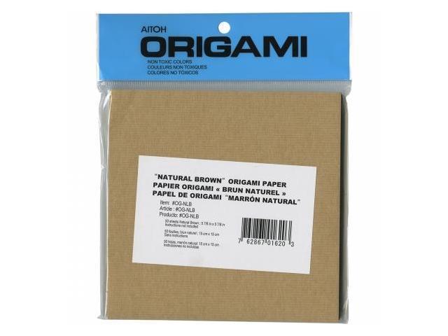 Aitoh OG-NIB Origami Paper 5.875''X5.875'' 50/Pkg-Natural Brown