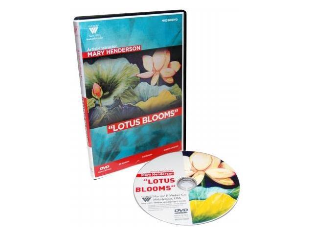 Martin F. Weber MH3901DVD Weber Mary Henderson DVD Lesson-Lotus Blooms in Watercolor