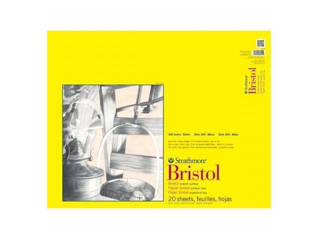 Pro-Art 342190 Strathmore Smooth Bristol Paper Pad 19''X24''-100lb 20 Sheets