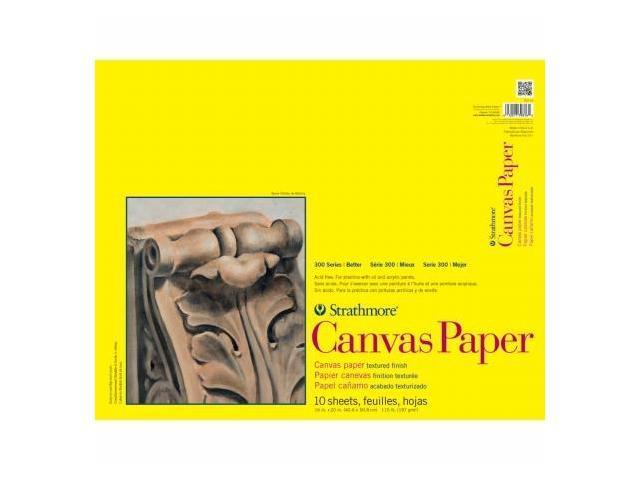 Pro-Art 310160 Strathmore Canvas Paper Pad 16''X20''-115lb 10 Sheets