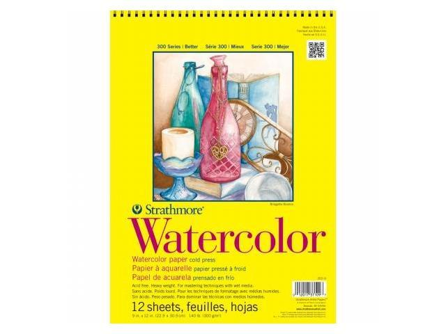 Pro-Art 360900 Strathmore Watercolor Paper Pad 9''X12''-140lb Cold Press 12 Sheets