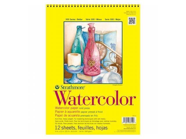 Pro-Art 360900 Strathmore Watercolor Paper Pad 9''X12''-140lb Cold Press 12 Sheets