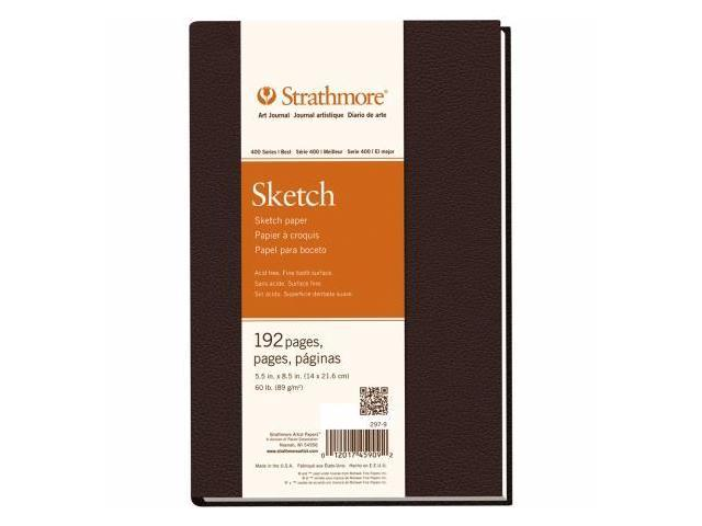 Pro-Art 297900 Strathmore Sketch Book 5.5''X8.5''-60lb 192 Pages