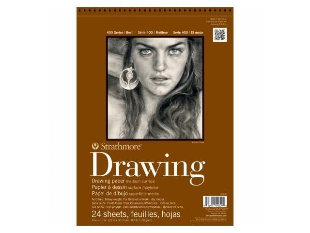 Pro-Art 400400 Strathmore Medium Surface Drawing Paper 9''X12''-80lb 24 Sheets