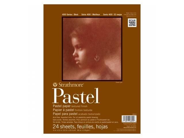 Pro-Art 403900 Strathmore Assorted Pastel Paper Pad 9''X12''-80lb 24 Sheets